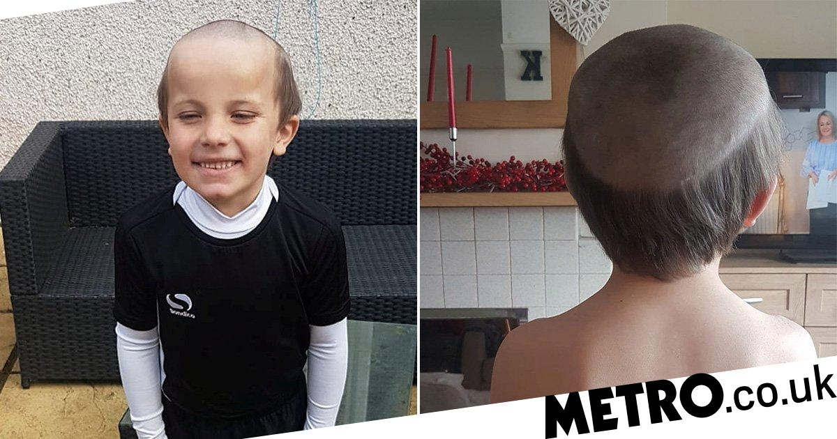Boy, five, begs brother to give him an 'old man haircut' that he saw on TV