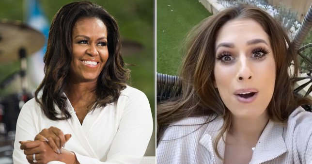 Stacey Solomon and Michelle Obama