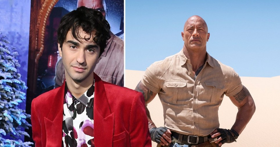 Alex Wolff and The Rock