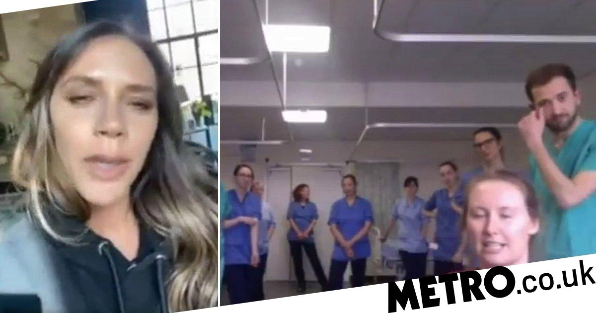 Victoria Beckham video calls NHS staff in Scotland to thank them for their work