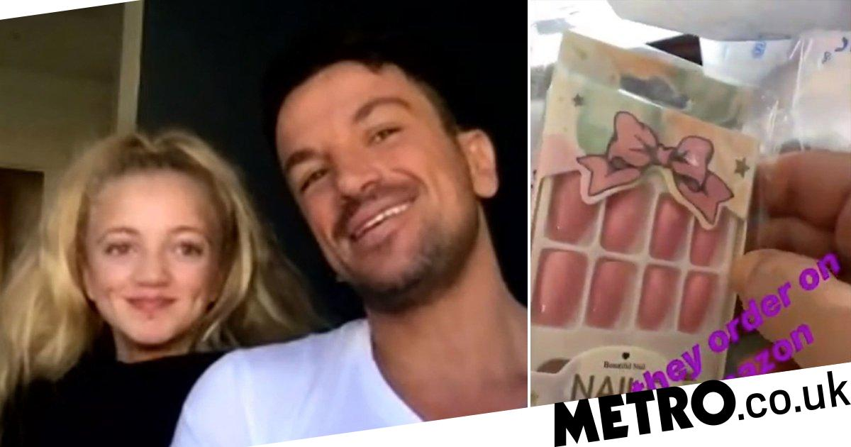Peter Andre lost for words as daughter orders non-essential fake nails