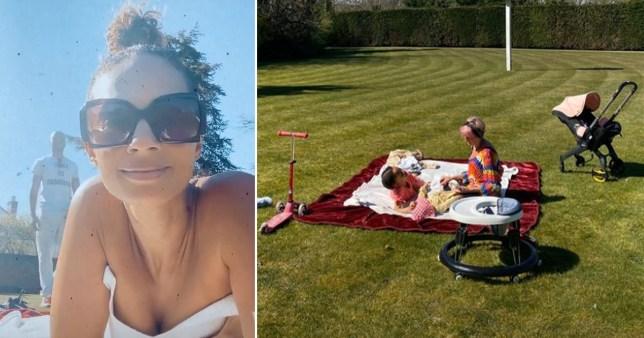 Alesha Dixon spends lockdown in huge garden fans mistake for a park