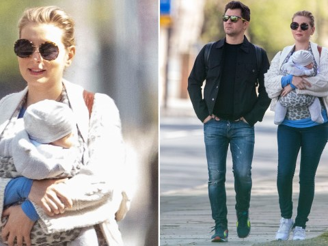 Rachel Riley and Pasha Kovalev take baby Maven out for daily exercise amid lockdown