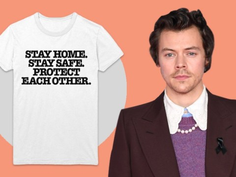 Harry Styles joins coronavirus relief efforts by selling £21 T-shirts to raise money