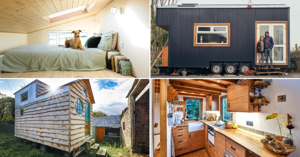 three different tiny houses in the UK