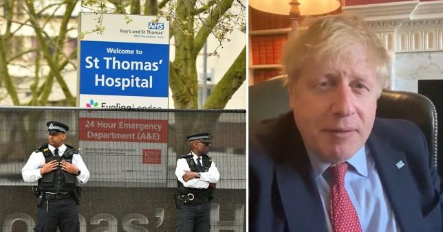 Boris Johnson remains in intensive care at St Thomas' Hospital, London