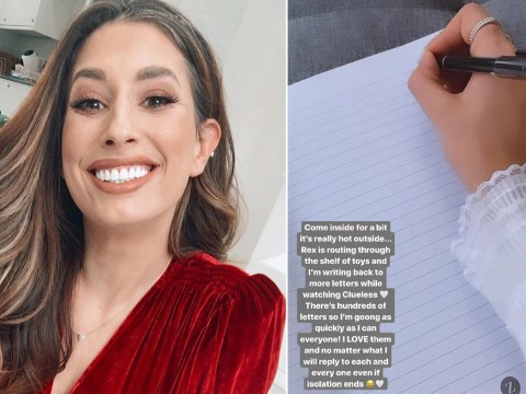 Stacey Solomon writes letters to hundreds of lonely fans as part of #PandemicPenPals