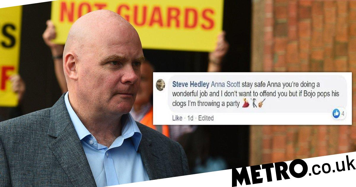 Union boss said he would 'throw a party' if Boris Johnson died