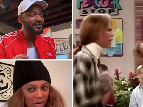Will Smith and Tyra Banks recreate iconic scene from Fresh Prince of Bel-Air and we can't believe it's already been 30 years
