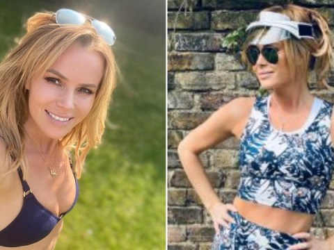 Amanda Holden ditches gym gear for her bikini as she shares cheeky snap soaking up the sun in lockdown