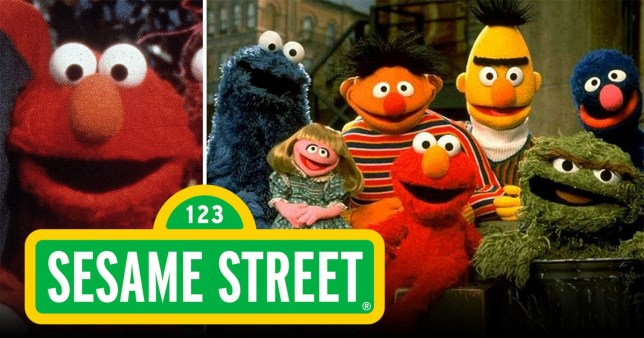 Elmo and Sesame Street characters
