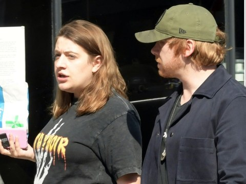 Rupert Grint's pregnant girlfriend Georgia Groome shows off baby bump during coronavirus lockdown walk
