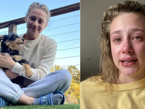 Riverdale's Lili Reinhart sobs as she tells fans her dog is in surgery after 'horrifying' attack