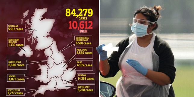 At least 10.612 people have now died of coronavirus in the UK