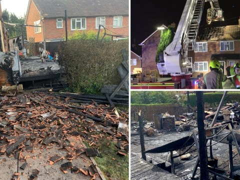 NHS worker's house set on fire by neighbour's barbecue