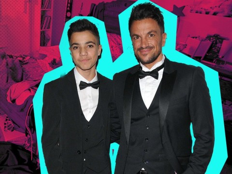Peter Andre praises Junior for his bathroom cleaning skills… until he sees his messy bedroom