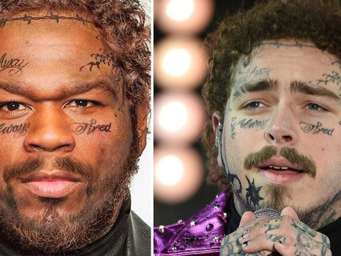 50 Cent turns himself into Post Malone to blast people impersonating him online