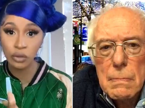 Cardi B and Bernie Sanders slam Donald Trump in Instagram Live chat about the presidential race