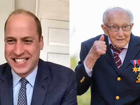 Prince William sends secret donation to Captain Tom Moore for NHS