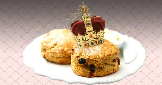 some images of scones and a crown