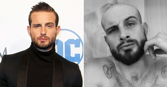 Nico Tortorella before and after he shaved his head