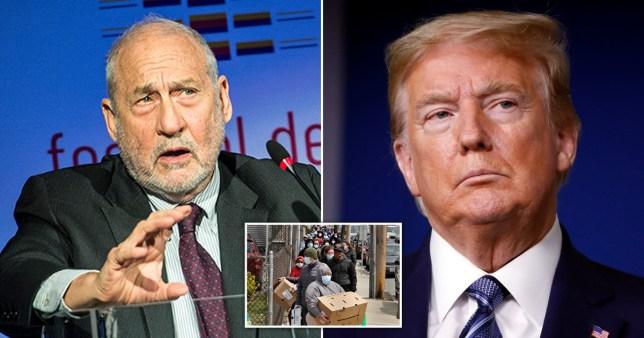 Top economist Joseph Stinglitz has delievered a stinging attack of Donald Trump's handling of the coronavirus crisis