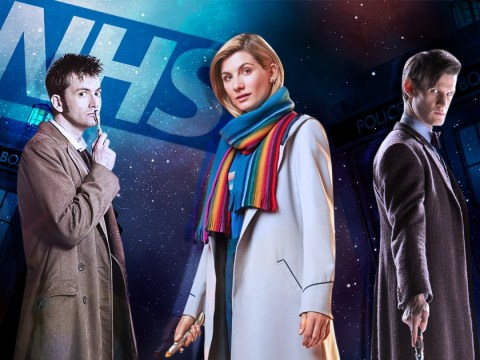 Doctor Who stars Jodie Whittaker, Matt Smith, Peter Capaldi and David Tennant unite for special NHS tribute
