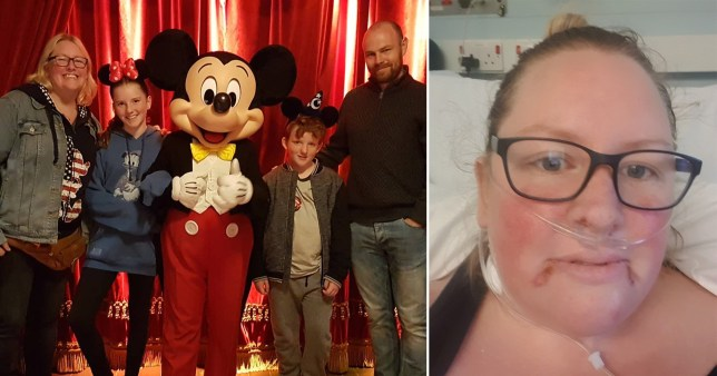 Ruth Andrew was told to say goodbye to her husband and children as she was admitted to ICU