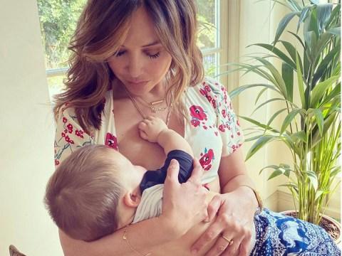 Myleene Klass breastfeeds son Apollo in sweet snap as she  juggles work with mum life in lockdown