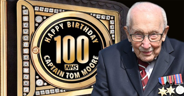 Captain Tom Moore is being given a custom WWE Championship title for his 100th birthday