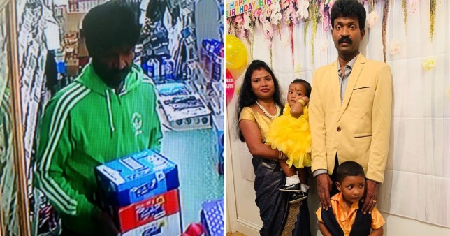 A newsagent worker named locally as Nithin Kumar is fighting for his life in hospital while under police guard after suffering stab wounds during the alleged murder