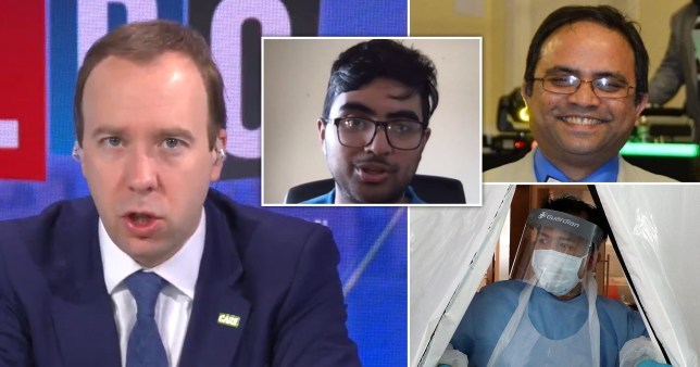 Dr Abdul Mabud Chowdhury (top right) died earlier this month with Covid-19 after writing a Facebook post directed at Boris Johnson