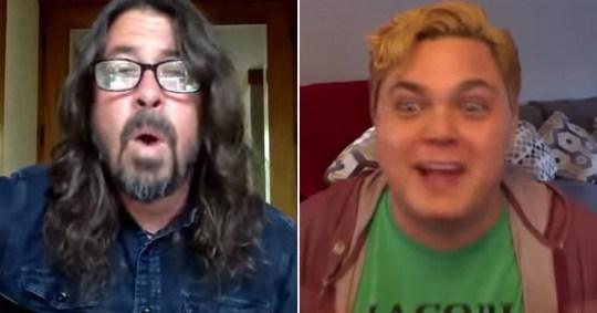 Foo Fighters frontman serenades a fan