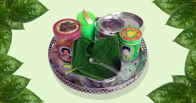 A plate of paan