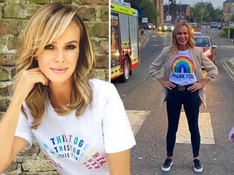 Amanda Holden releases debut single Over The Rainbow in honour of the NHS who 'saved her life'