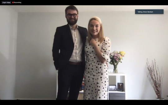 Ben Jackson and Sophie Austin of the school sweethearts getting married over Zoom video chat, after the Coronavirus lockdown made their dream wedding impossible.