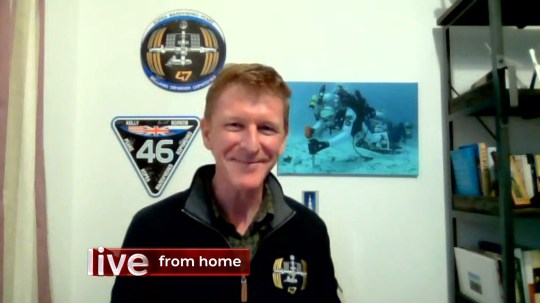 Astronaut Tim Peake joins The One Show Picture: BBC