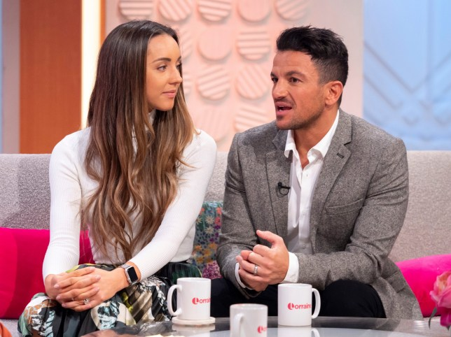 Editorial use only Mandatory Credit: Photo by Ken McKay/ITV/REX (10080254o) Emily MacDonagh and Peter Andre 'Lorraine' TV show, London, UK - 01 Feb 2019