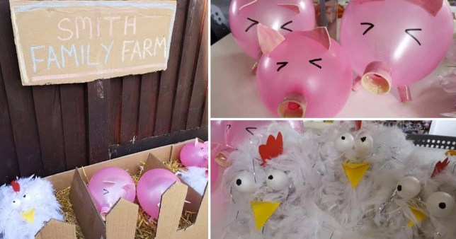Gemma made her own farm for her daughter's birthday