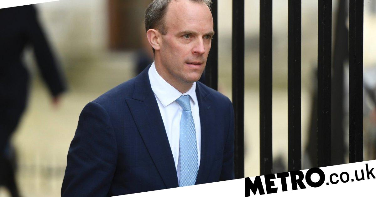 What is Dominic Raab's job and who is his wife?