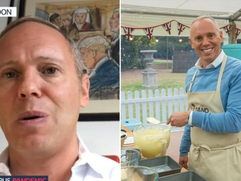 Judge Robert Rinder got drunk on Celebrity Bake Off after finishing off wine meant for cake