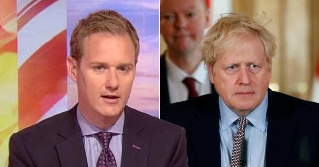 BBC Breakfast's Dan Walker slams Boris Johnson trolls as PM fights coronavirus in intensive care Pictures: BBC/Reuters