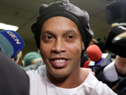 Ronaldinho requests a football to play with during his house arrest in Paraguay