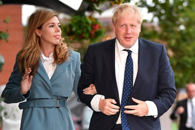 British Prime Minister Boris Johnson and his girlfriend Carrie Symonds