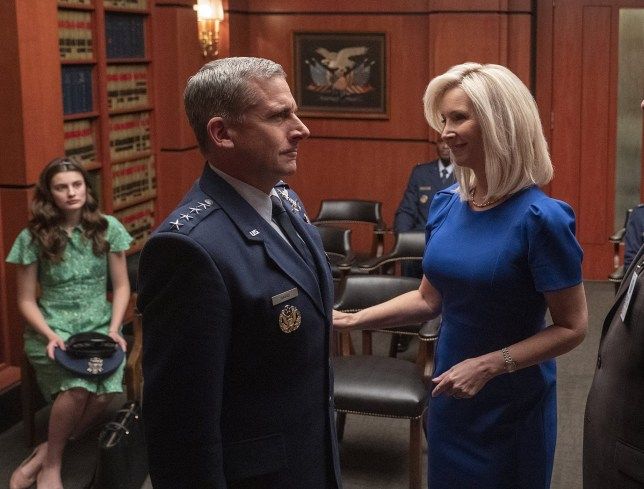 Lisa Kudrow and Steve Carell are playing husband and wife in a new Netflix comedy called Space Force