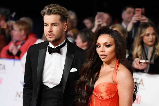 Mandatory Credit: Photo by Scott Garfitt/REX (10537867cr) Chris Hughes and Jesy Nelson 25th National Television Awards, Arrivals, O2, London, UK - 28 Jan 2020