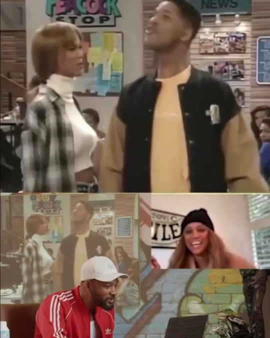 Will Smith and Tyra Banks Reenact Fresh Prince of Bel-Air Scene Picture: Will Smith METROGRAB