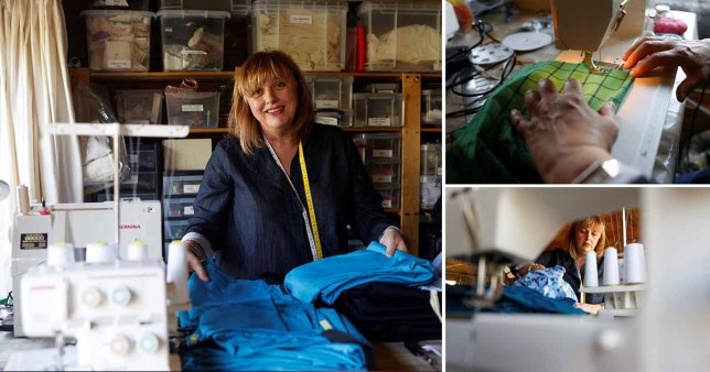Downton Abbey & Star Wars costume makers sewing scrubs for doctors and nurses (Picture: Reuters)