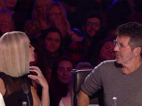 Britain's Got Talent's Simon Cowell baffled as Amanda Holden tells him her cat 'talks a lot'