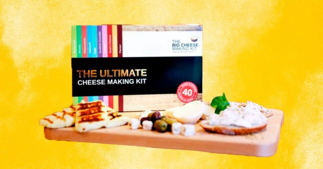 close up of the DIY cheese making kit